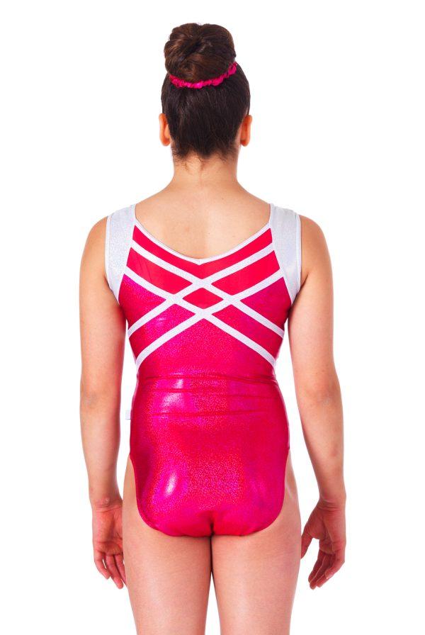 achterzijde Indian Pink turnpakje