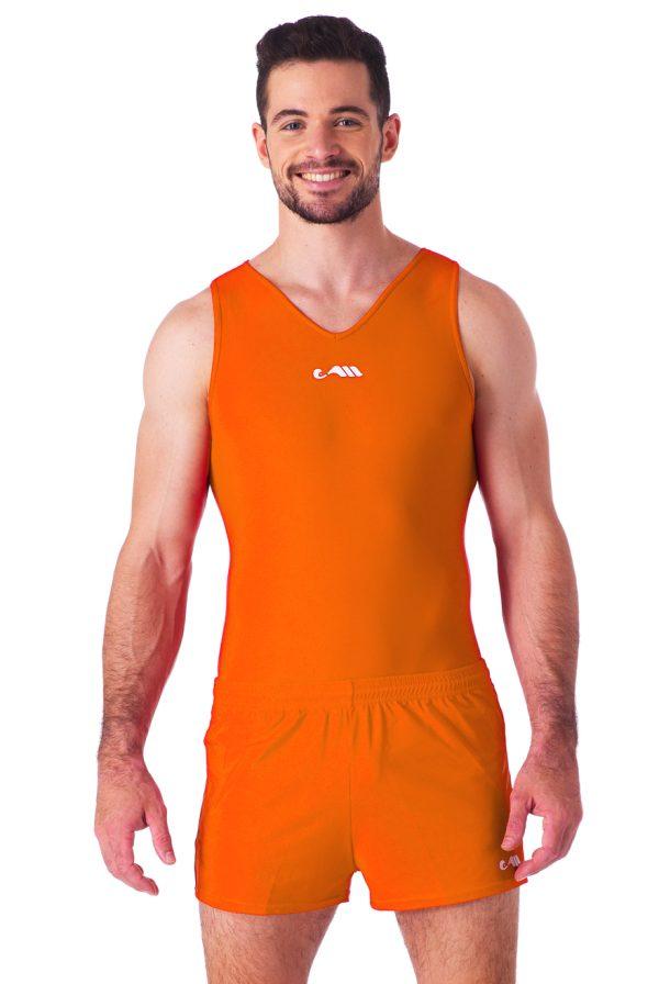 heren short oranje